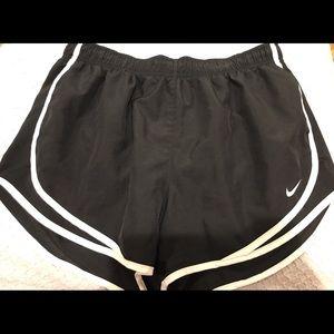 Black athletic shorts